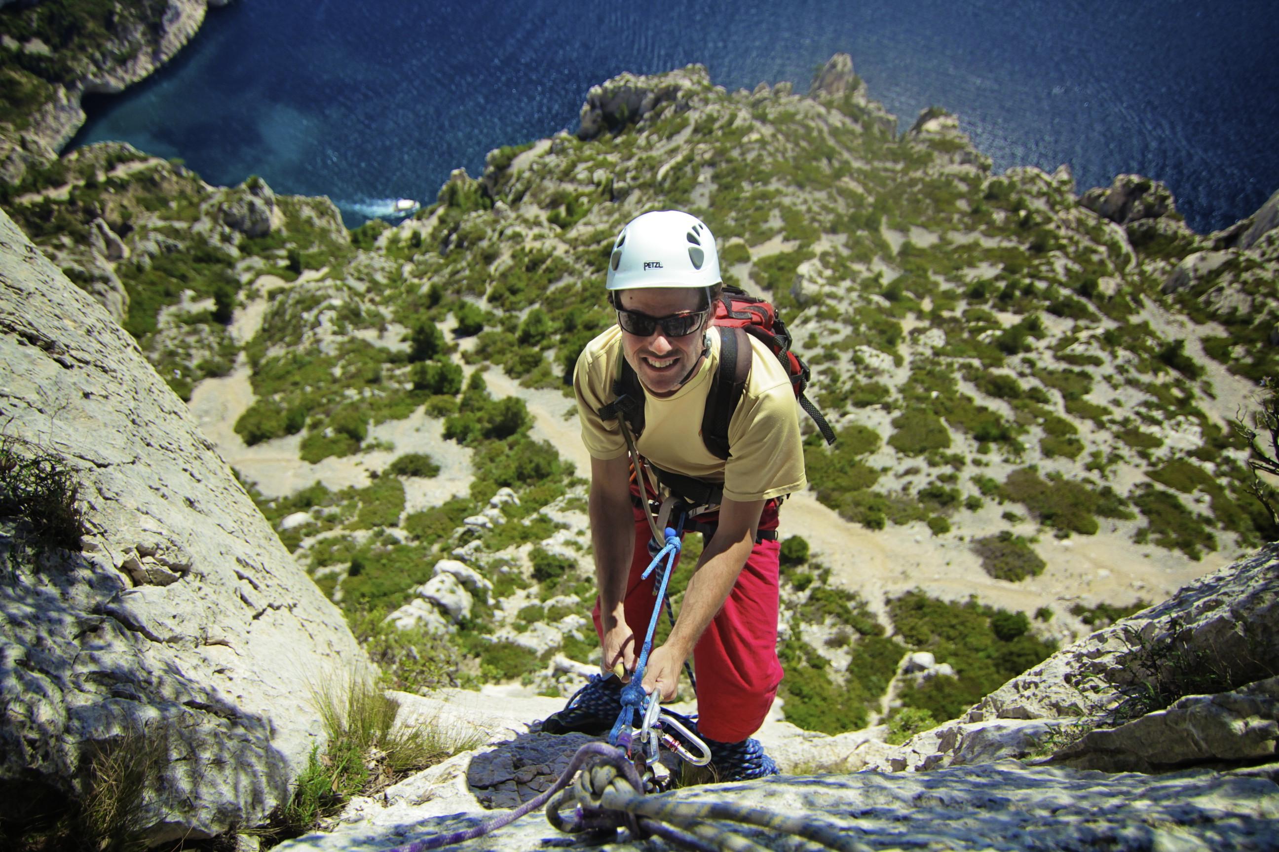 A climbing day